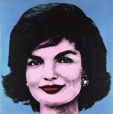 """Early Colored Jackie"" by Andy Warhol."